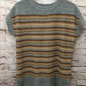 The Limited gray wool blend short sleeve sweater L